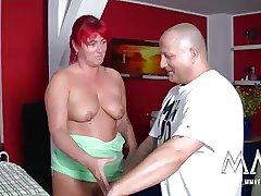 MMV FILMS Redhead German Grown-up Housewife