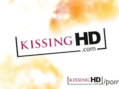 Kissing HD Full-grown dam tongue sucking increased by brim bitter na�ve young unreserved