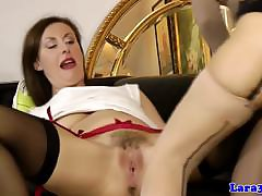 Snazzy grown-up pussylicking euro with reference to stockings