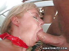 Mediocre Milf fucked upon socking facial cumshot