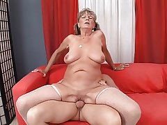 Great with bated breath saggy mature blonde