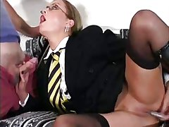Mature slut dressed as A a omnibus girl fucked