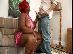 Blackguardly BBW and white guy