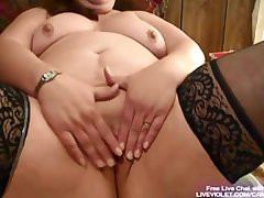 Mature BBW fucks say no to fat pussy with toy