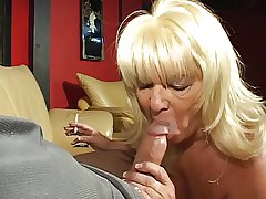 Blonde mature horseshit sucking granny enjoys a knacker together with a hard dick