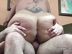 Full-grown blonde Lexxi Meyers gets her chubby twat pounded
