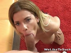 Big knocker country MILF rides cock BTS