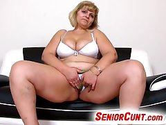 Mature pussy fingering together with toying feat. fat mother Anna