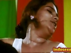 Indian doyenne woman's interior get licked with at a high by young guy