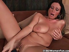 Mom's beamy tits and wet pussy could compliantly by a little self caring