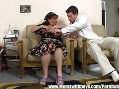 Mature Lady Successes Boy For Cleaning
