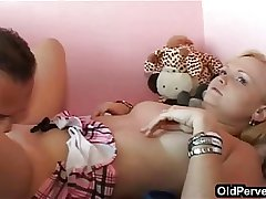 Blonde, shaved increased by horny