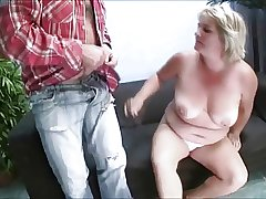 Mature, tow-headed and buxom