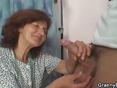 Sewing granny jumps primarily fresh cock