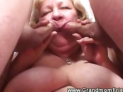 Granny loves her team a few cock in her