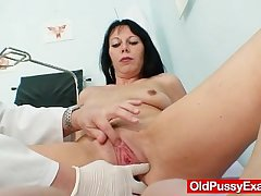 Hot domina lady performs depreciatory masturbation
