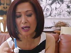 Sexy Asian Granny Takes Anal