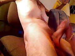 Granny sucks penis a young man