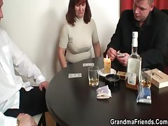 She loses in poker with an increment of gets fucked wits two guys