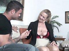 MMV FILMS Sexy Granny tries virgin jock meat