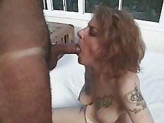 Tattoo Victorian Milf Suck with an increment of Fuck