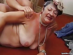 Granny gets reamed overwrought young man