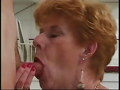 Classic Granny Diane Richards banged in the matter of scullery