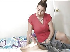 MILF gives a deepthroat helter-skelter die for