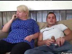 Lustful Young Sponger Bangs Old Blonde Unfocused mature mature porn granny old cumshots cumshot