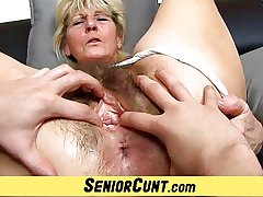 Close-ups be required of hairy old pussy be required of czech granny Hana