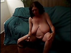bbw granny strippes together with sucks beamy load of shit