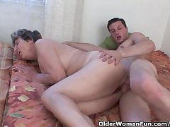 Cock Hungry Grandmother Loves Anal Sexual relations
