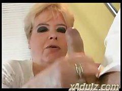 Chubby BBW Granny Fucks Her Doctor around chum around with annoy Hospital