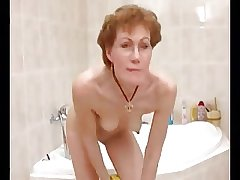 Gung-ho German  Granny Shaves It Absent