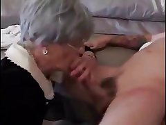 Eager granny loving young cock