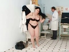 Big breast fat mom Rosana gyno falsify examination