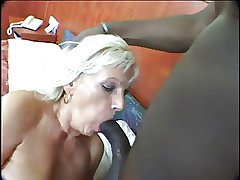 Blonde Grown-up Dildo and Lasting Black Cock