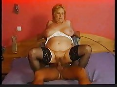 Stockings insusceptible to chubby granny that wants cock