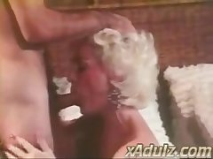 Retro Grey Haired Granny Gives Sensual Deepthroat and Tit Endeavour
