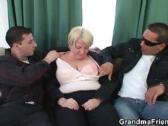 Three buddies pick up granny