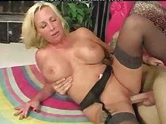 Titillating  Granny Busty Blonde Cougar Licks Ass mature mature porn granny old cumshots cumshot