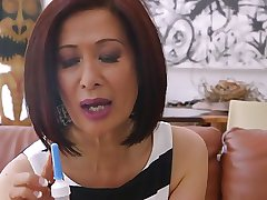 70 yo asian granny takes anal