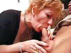 granny slut gets creampie