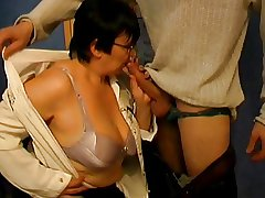 Chunky Irritant Granny Teacher and Student - 38
