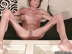 Very skinny granny strips off coupled with masturbates (compilation)