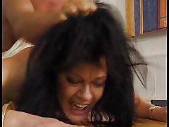 Hot Curvy Euro Brunette Granny