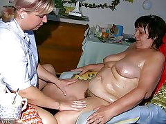 OldNanny Heavy granny, gradual pussy and young skirt with heavy titty