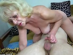 HOT Young alms-man fucking granny almost strap-on
