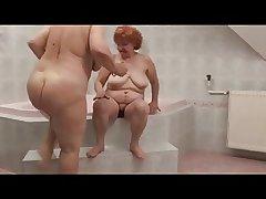 Hot Lesbian Grannies near bathtube