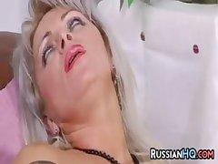Russian Granny Enjoying A Young Cock